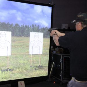 100% safe firearms training held at Artemis on the Virtra 180
