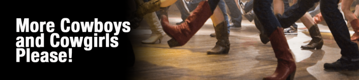 Cowboys and Cowgirls line dancing