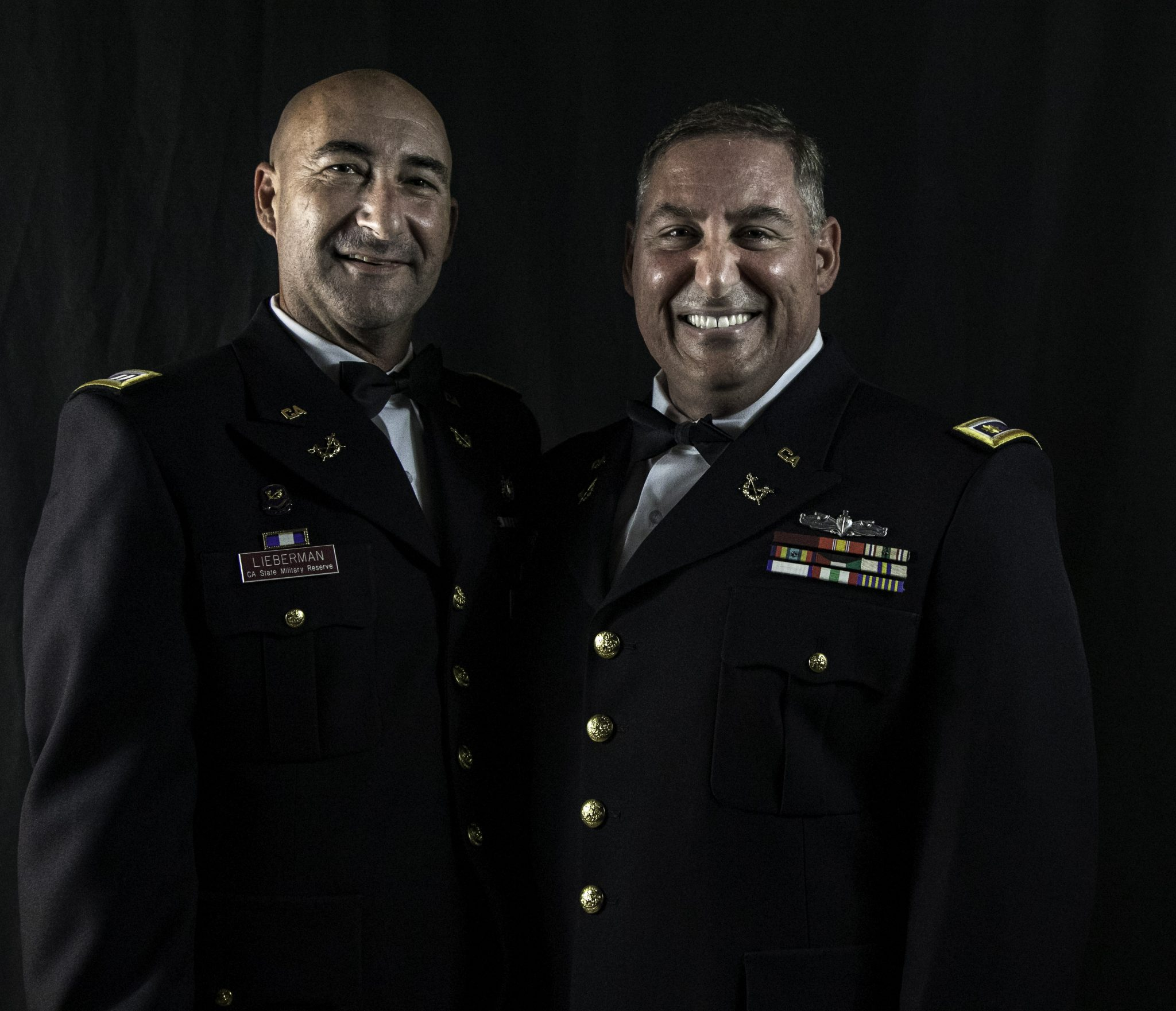 CA State Military Reserve Jag Officers Major Cosmo Taormina and Captain Steven Lieberman