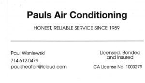 Affiliate member logo Pauls Air Conditioning Service