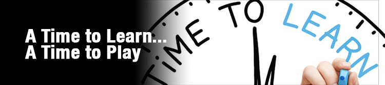 Artemis Banner for Blog: A time to learn... A time to play